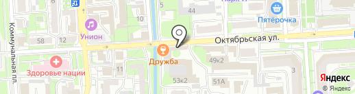 Митра, ЗАО на карте Липецка