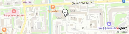 Инфол на карте Липецка