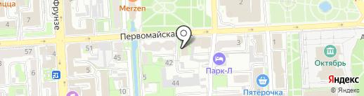 Лехаим на карте Липецка