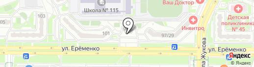 Сектор на карте Ростова-на-Дону
