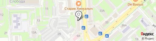 Сингл на карте Липецка
