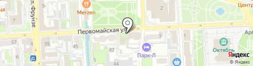 Флоранс-Декор на карте Липецка