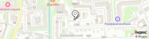 Аквадом на карте Липецка