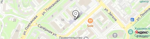 Новатор на карте Липецка