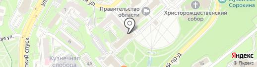 Управление Пенсионного фонда РФ в г. Липецке на карте Липецка