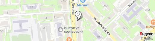 Сеть продуктовых магазинов на карте Липецка