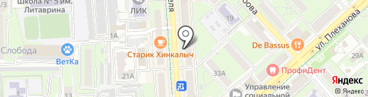 Акварель на карте Липецка