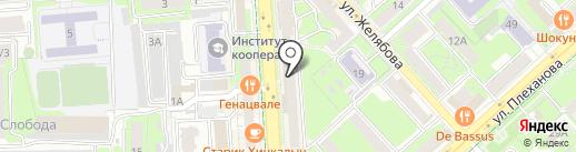 Золушка на карте Липецка