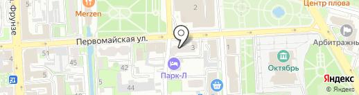 Супермаркет плитки и дизайна на карте Липецка