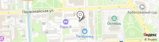 Моешная на карте Липецка