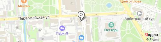 КапиталСтрой на карте Липецка