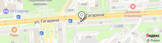 Орион на карте Липецка