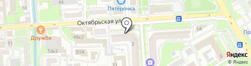 Окна Липецк-Книппинг на карте Липецка