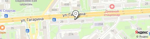 Электел на карте Липецка
