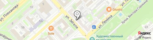 Банкомат, АКБ Связь-Банк на карте Липецка