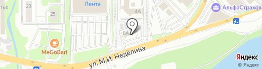 Радиус на карте Липецка