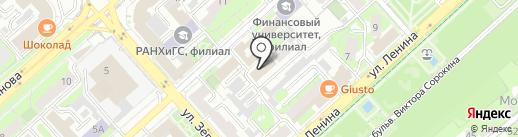 Военный комиссариат Липецкой области на карте Липецка