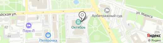 Центр на карте Липецка