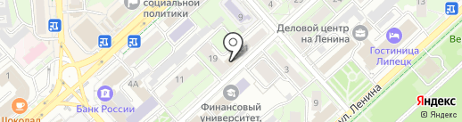 Эльза на карте Липецка