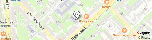 Дайкотан на карте Липецка