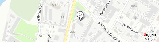 Вектор на карте Липецка