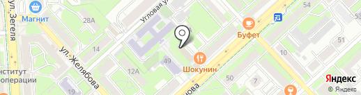Пункт отбора на военную службу по контракту по Липецкой области на карте Липецка