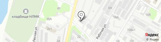 Центральная-Л на карте Липецка