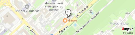Губiнъ на карте Липецка