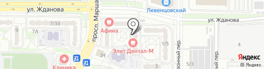 Элефант на карте Ростова-на-Дону