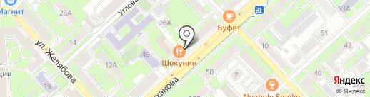 Винитуки на карте Липецка