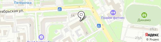 Липецкий областной суд на карте Липецка