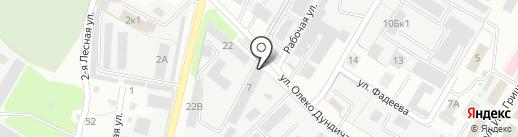 Аварийно-диспетчерская служба городского хозяйства г. Липецка, МУП на карте Липецка