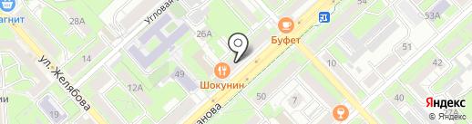 Петровский на карте Липецка