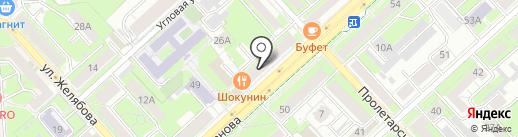 Вершки и Корешки на карте Липецка