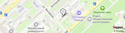 Сова на карте Липецка