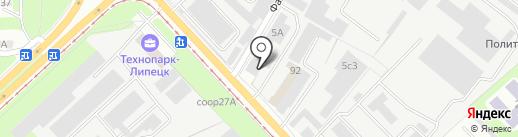 Стройдорпуть на карте Липецка