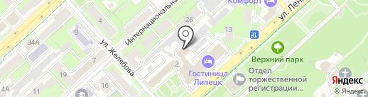 Деловой центр на Ленина на карте Липецка