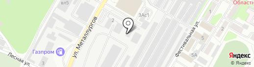 Автобанька на карте Липецка