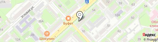 Фрея на карте Липецка