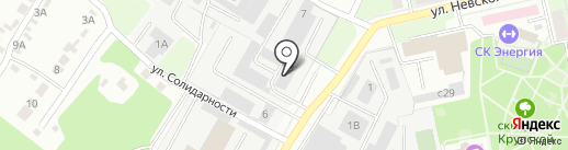 Улисс на карте Липецка