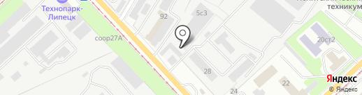 Экоблок на карте Липецка