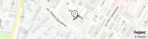 Монолит на карте Липецка