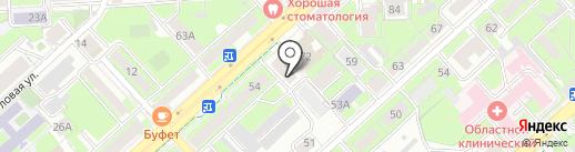 Велюр на карте Липецка