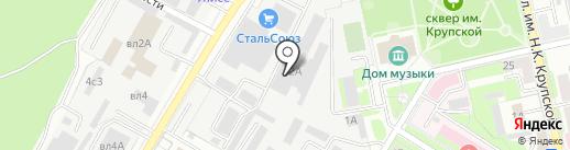 Авилов С.А. на карте Липецка