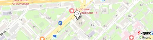 Правобережный районный суд г. Липецка на карте Липецка