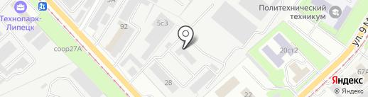 Бастион на карте Липецка