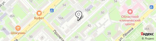 Центр экономических технологий на карте Липецка