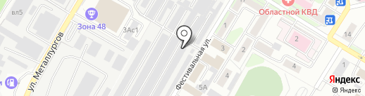 Автолюбитель-1 на карте Липецка