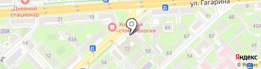 Адвокатский кабинет Угловой О.А. на карте Липецка