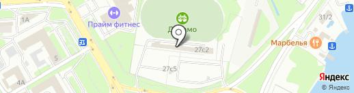 Динамовец на карте Липецка